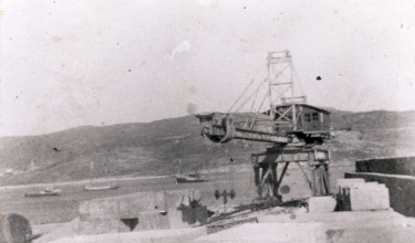 Construction of the port, 1956