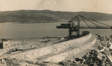 Construction of the port, 1958